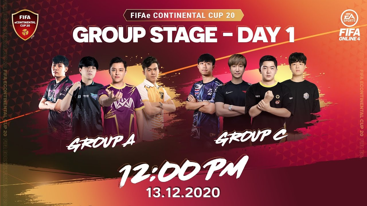 [Trực tiếp] Group Stage DAY 1 – FIFAe Continental Cup 2020 – FIFA Online 4