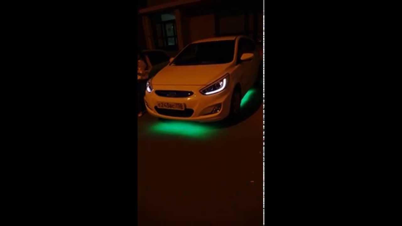 RGB подсветка днища - Логан - YouTube