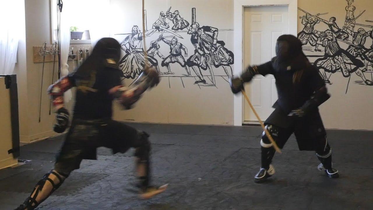 singlestick sparring lee smith vs erik bailey blood iron hema