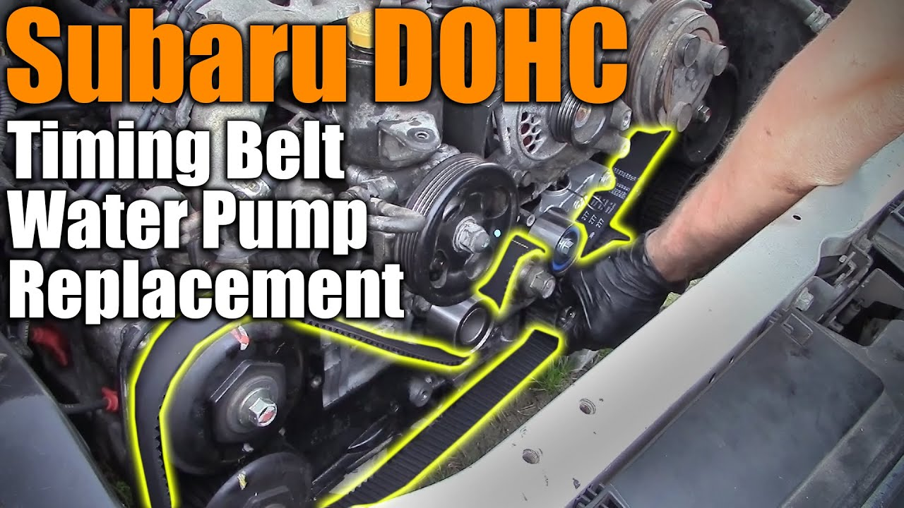 Subaru Dohc Timing Belt Water Pump Replacement Youtube 4eat 1997 Legacy Outback Wiring Diagram