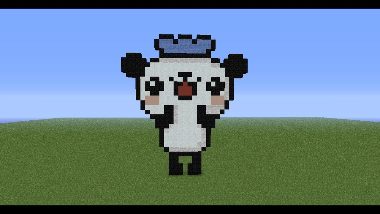 Minecraft Pixel Art Tutorial 70 Panda