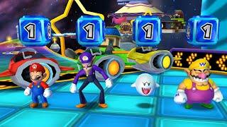 Mario Party: Island Tour - Party Mode - Rocket Road - Mario vs Wario vs Boo vs Waluigi