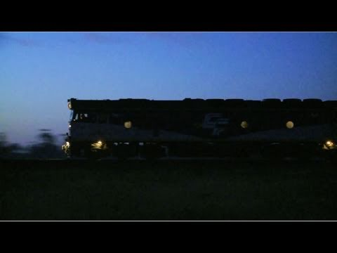 POTA Adelaide to Melbourne Freight Train at sunrise - PoathTV Trains & Railroads