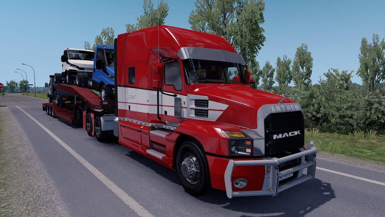 ets 2 mod mack anthem 2018 v1 0 euro truck simulator 2 youtube. Black Bedroom Furniture Sets. Home Design Ideas