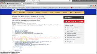 kansas printable tax forms 2012 individual k40 income tax forms online