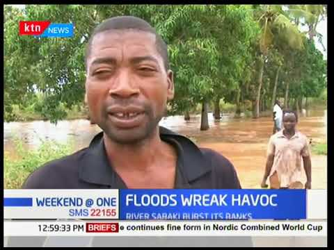 Three children reported dead while more than 250 families displaced by raging floods in Kilifi