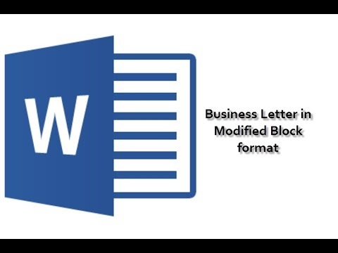 Business Letter - Modified Block Format - YouTube