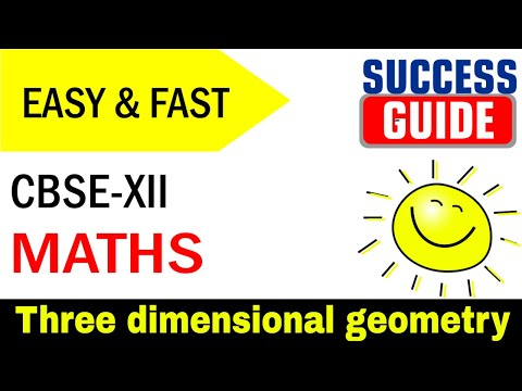 CBSE XII Maths Three dimensional geometry-1-Direction cosines and direction ratios by Success Guide thumbnail