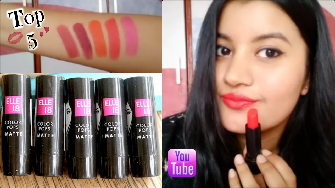 Elle 18 lipstick shades red