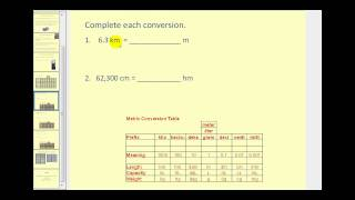 Metric Unit Conversion