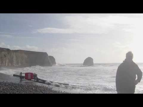 Freshwater Bay Isle Of Wight Spring tide 2nd February 2014 storm