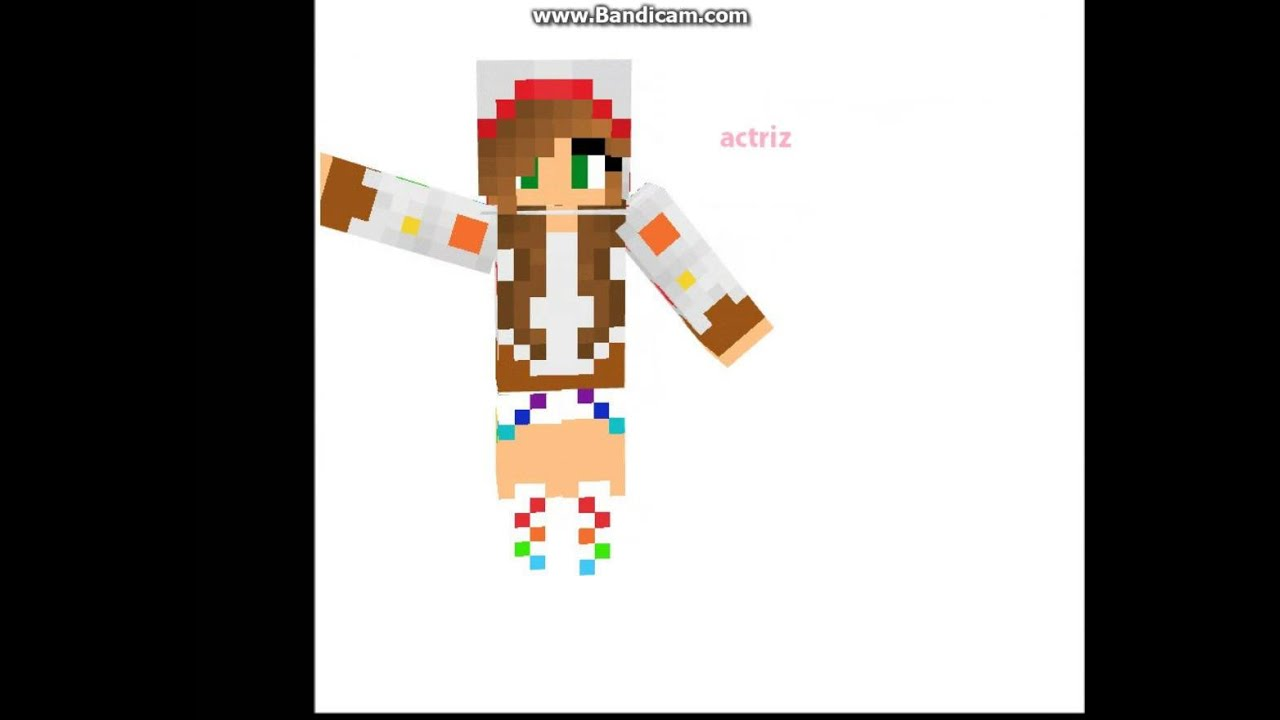 Skins Para Chicas Con Sus Nombres YouTube - Skins para minecraft 1 8 chicas