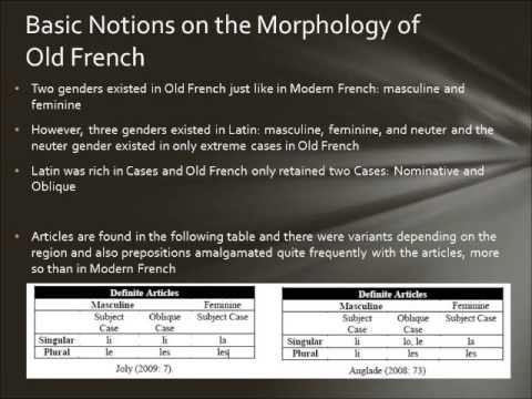 Structure of Old French