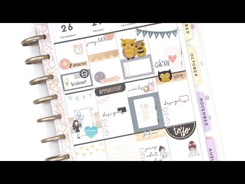 Plan With Me - NO Etsy Kit: Hobby Lobby | The Happy Planner 2018