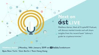 OST LIVE #058: Matthew Aaron of Crypto101 - Average Consumer Guide to Crypto