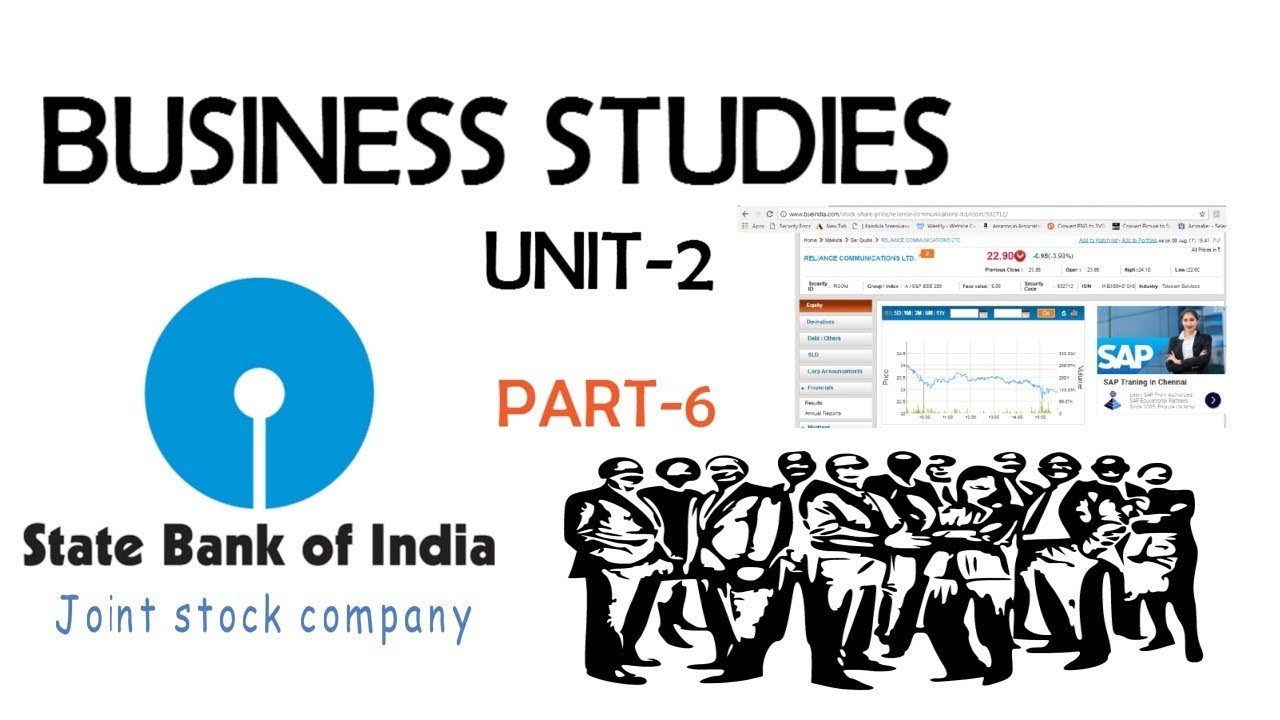 Joint stock company - Business Studies Unit 2 Cbse Part 6 Forms Of Business Organisation Joint Stock Company