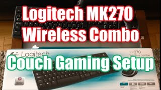 wireless keyboard and mouse combo logitech mk270 review couch gaming setup
