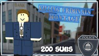 ROBLOX   LANDER POLICE DEPARTMENT   PVP MONTAGE 「200 SUB SPECIAL」