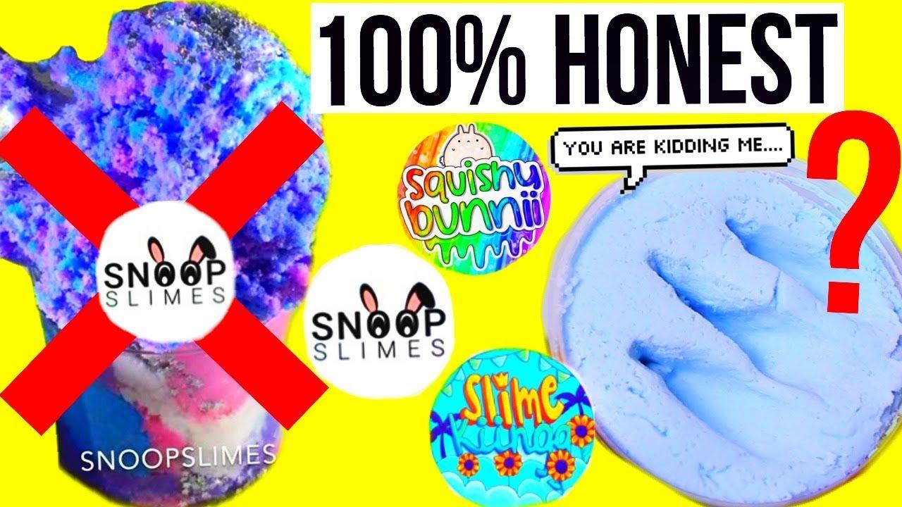 100  honest slime package review   snoop slimes  squishy bunnii  slime kingg   more