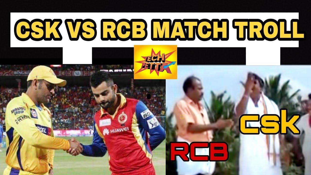 Csk Vs Rcb Match Troll Ipl 2019 Must Watch Memes Troll Dhoni Vs Kohli Youtube