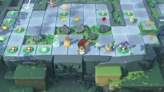 Super Mario Party Partner Party #218 Domino Ruins Treasure Hunt Peach & Waluigi vs Monty & Bowser Jr