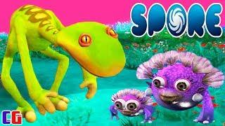 Spore #2 Создал САМОЕ БЕЗОБИДНОЕ СУЩЕСТВО и ВСТРЕТИЛ СМЕШАРИКОВ Игра про Эволюцию СПОР от Cool GAMES