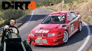 Навалил на Mitsubishi Evo 6 Tommi Makinen Edition в Испании - DIRT 4
