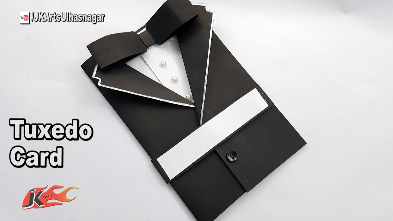 Father's Day Card Idea How To Make Suit Tuxedo Card JK