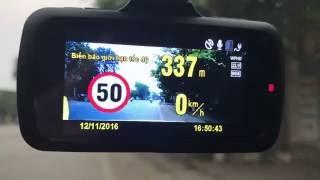 Phát hiện tọa độ các điểm tương ứng tốc độ cho phép trên camera hành trình WEBVISION S8