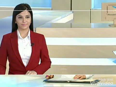 Arzu Khalilova, TV Presenter. English News on Azerbaijan Television(AzTv)October 24, 2017