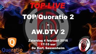 TOP/Quoratio 2 tegen AW.DTV 2, zaterdag 4 februari 2017