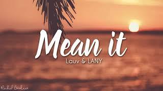 Gambar cover Lauv & LANY - Mean It (Lyrics)