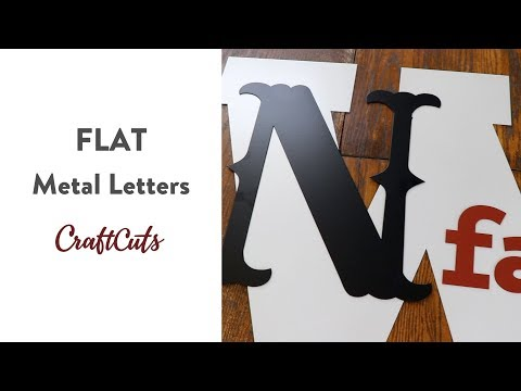 FLAT METAL LETTERS - Product Video | Craftcuts.com