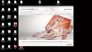 Instalar paquete de lenguaje para AutoCAD 2016