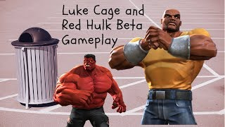Red Hulk and Luke Cage beta gameplay!-Marvel Contest Of Champions