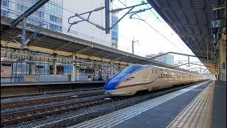 高崎駅8:06通過「北陸新幹線W7系W8編成  かがやき503号 金沢行き」