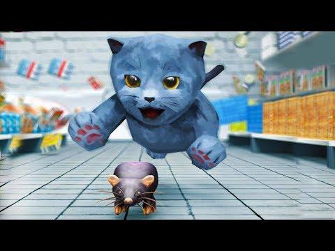 СИМУЛЯТОР Маленького КОТЕНКА #5 Котик встретил друга. Игра с Кидом на #ПУРУМЧАТА