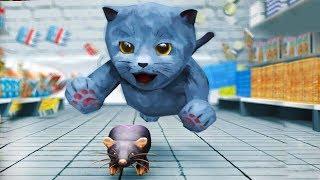 СИМУЛЯТОР Маленького КОТЕНКА #5 котик встретил друга -  развлекательное видео для детей #ПУРУМЧАТА