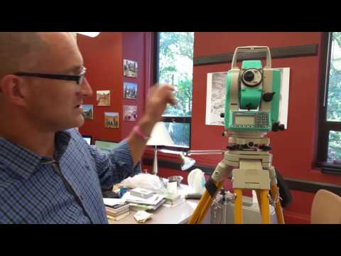 Setting up a total station and basics of operation