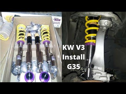 INFINITI G35 / NISSAN 350z – Coilover Install KW V3