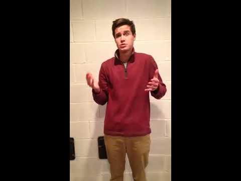 Garrett Gagnon Acting Monologue