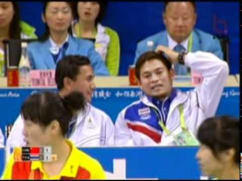 Sepak Takraw(Women's Team A+B) @2010 Asian Games - Thailand vs China (Gold Medal Match) 8/10
