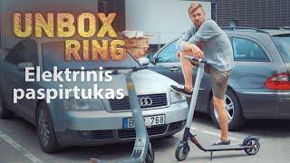 Elektrinis paspirtukas   EKORIDE F1   Unbox Ring    Laisvės TV X