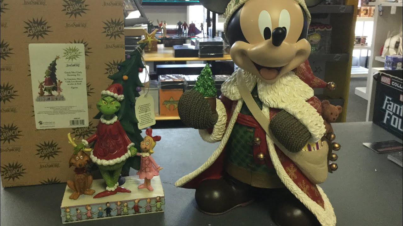 Mickey Mouse Christmas Grinch Dr Seuss Jim Shore Statue By Enesco Unboxing And Review Youtube
