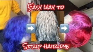 How To Strip or Remove Dye from Hair