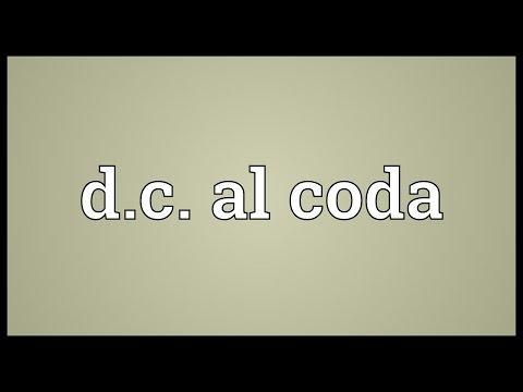 D.c. al coda Meaning