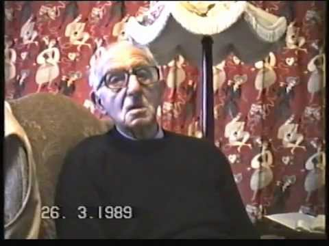 Great Grandfather talking about WW1