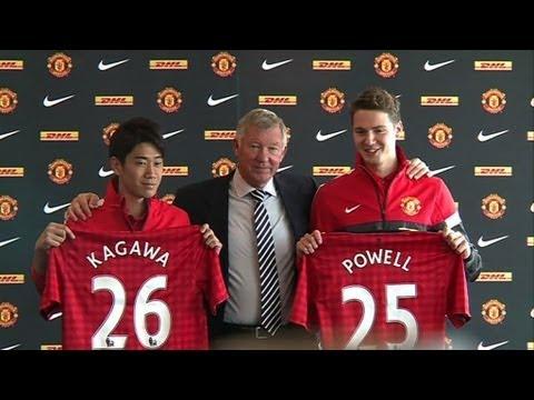Shinji Kagawa and Nick Powell unveiled at Manchester United