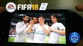 FIFA 18 PS Vita Remote Play Gameplay (via WiFi)