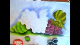Aprendendo a pintar uvas de maneira prática